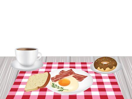 Breakfast set, vector