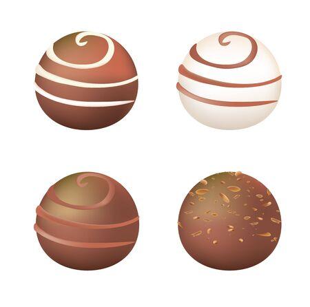 Chocolate balls. vector illustration