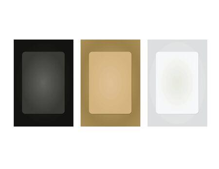 Cardboard photo frame set. vector illustration Ilustração