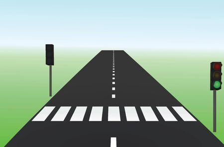 Crosswalk on road. vector illustration Banque d'images - 133086385
