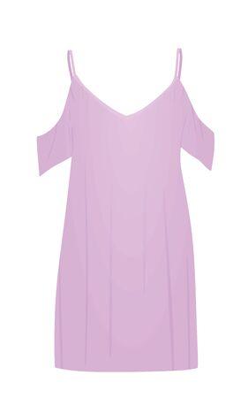 Pink women's sleeping shirt. vector illustration Archivio Fotografico - 133086386