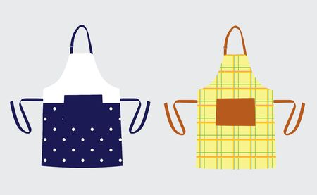 Two kitchen aprons, vector