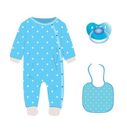 Baby boy set. vector illustration Ilustracja
