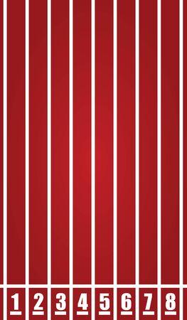 Red running tracks. vector illustration