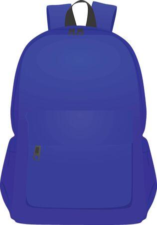 Blue back pack. vector illustration
