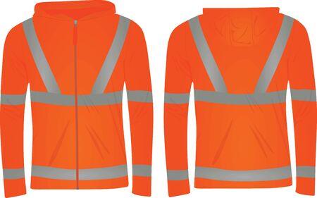 Orange safety jacket. vector illustration