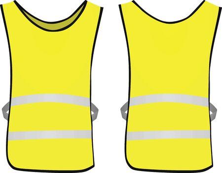 Yellow reflective vest. vector illustration Vektoros illusztráció