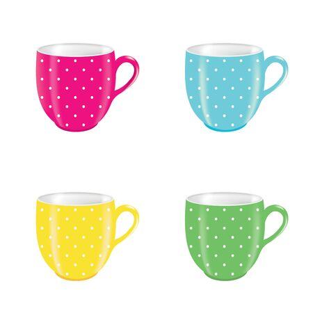 Coffee mug set. vector illustration