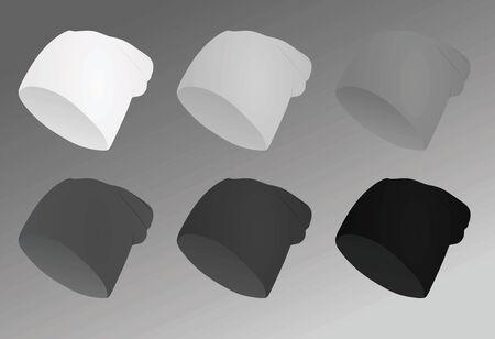Winter hats. vector illustration Ilustração