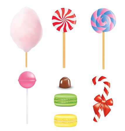 Various sweets set. vector illustration