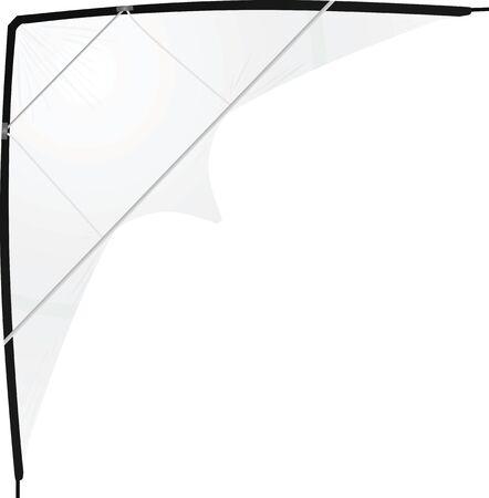 White kite. vector illustration