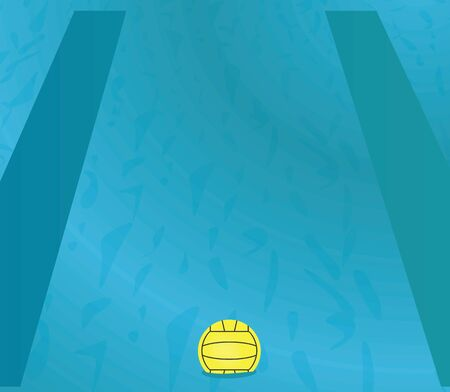 Water polo ball. vector illustration