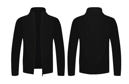 Black shawl sweater. vector illustration