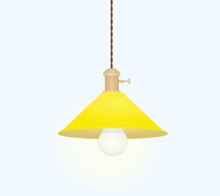 Lampe à led jaune. illustration vectorielle