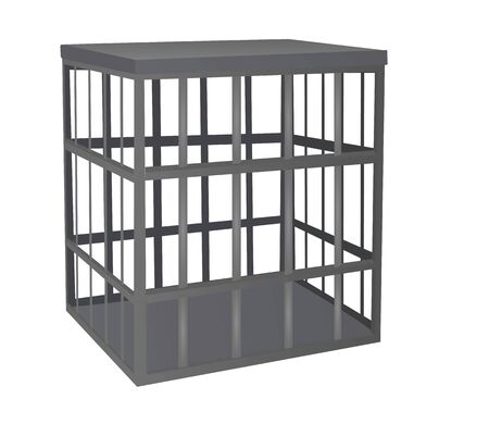 Cage metal bars. vector illustration Ilustración de vector
