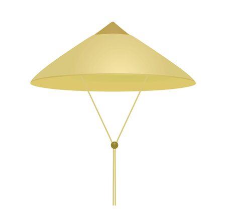 Beige vietnamese hat. vector illustration