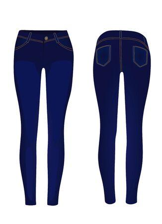 Blue jeans pants. vector illustration