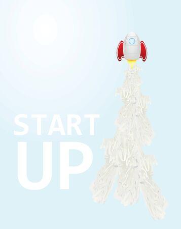 Start up poster. vector illustration