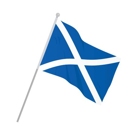Scotland national flag. vector illustration Vettoriali