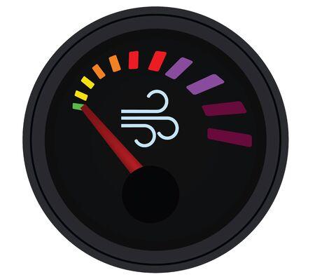 Air quality gauge. vector illustration  イラスト・ベクター素材