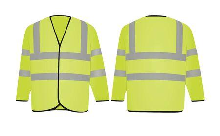 Yellow safety jacket. vector illustration