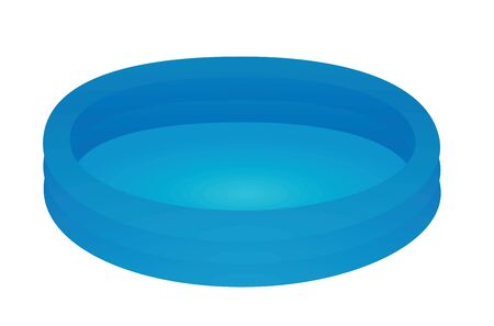 Blue kids padding pool. vector illustration