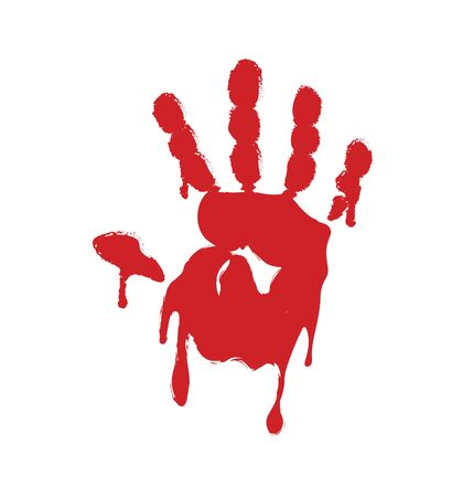 Blood hand print. vector illustration Illustration