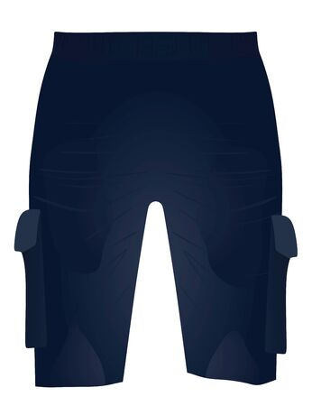 Blue shorts, front view, vector illustration 免版税图像 - 148075494