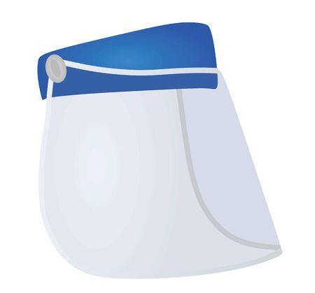Plastic visor protection. vector illustration