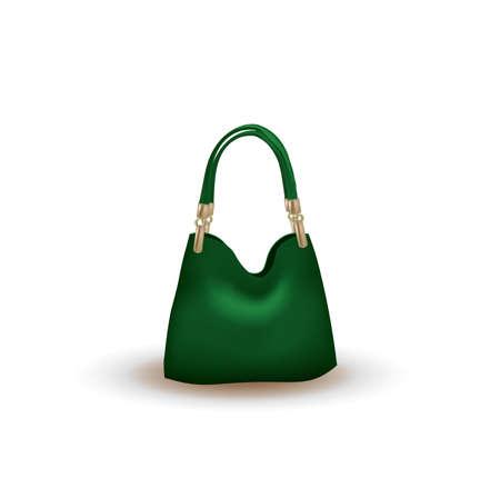 Green bag on white background, vector 免版税图像 - 154906937
