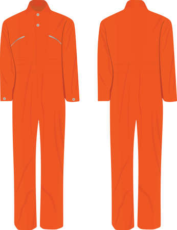 Orange working uniform. vector illustration 矢量图像