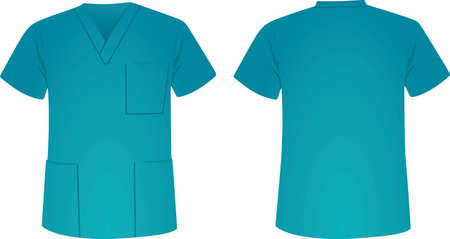 Blue medical uniform. vector illustration