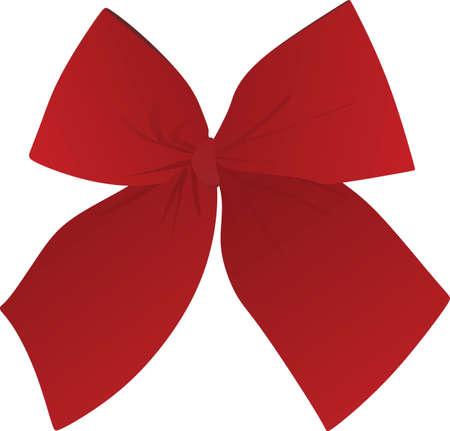 Red bow. vector illustration 矢量图像