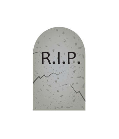 RIP grave stone. vector illustration