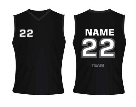 Black basketball jersey on white