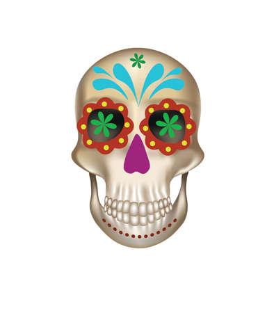Sugar skull isolated. vector illustration