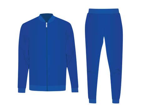 Blue male tracksuit. vector illustration