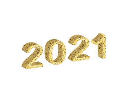 2021 number made from glitter. vector illustration 矢量图像
