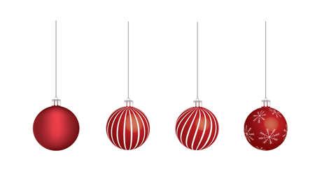 Red Christmas balls. vector illustration