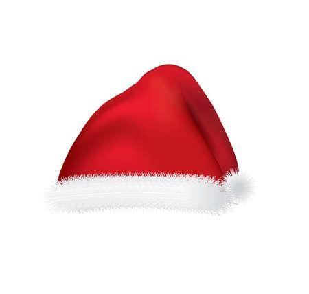 Santa Claus cap. vector illustration