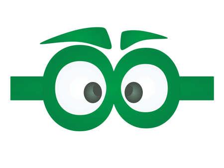 Funny green eye mask. vector illustration 矢量图像