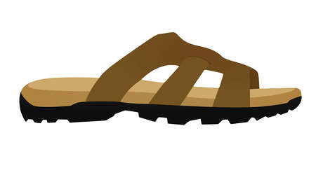 Brown male sandal. vector illustration 免版税图像 - 157897085