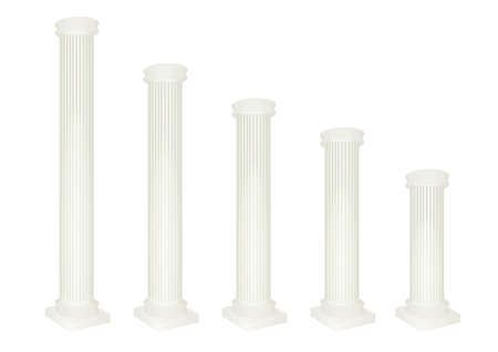 Antique white pillar set. vector illustration