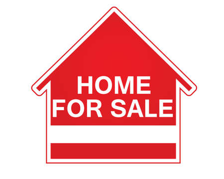 Home for sale sign. vector 免版税图像 - 158287044