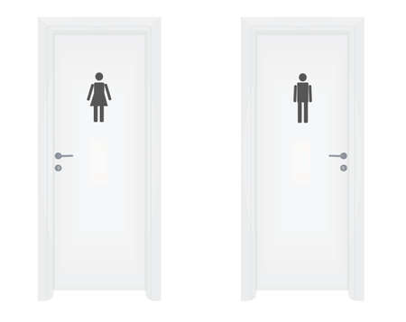 Male and female toilette door. vector