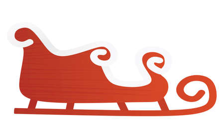 Santa Claus carriage. vector illustration  イラスト・ベクター素材