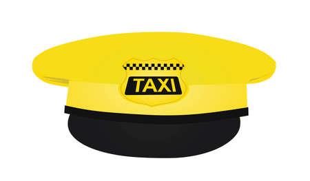 Yellow taxi driver cap. vector 矢量图像