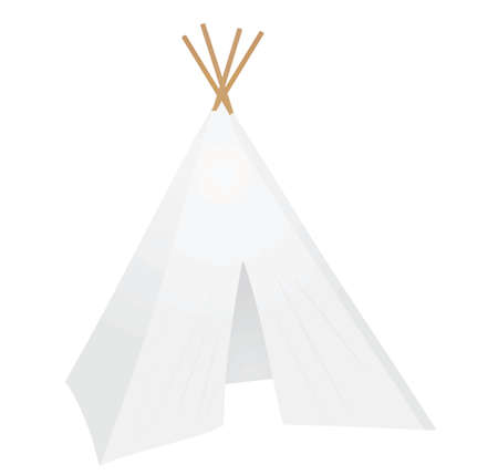 White camping tent. vector illustration