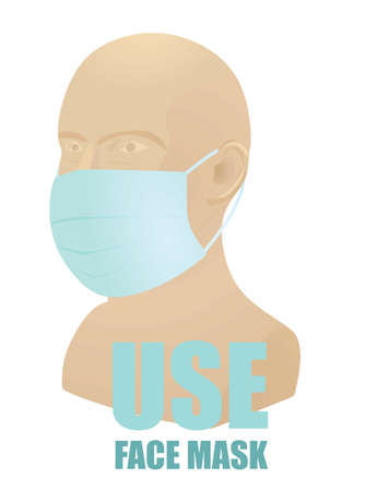 Use face mask sign. vector illustration