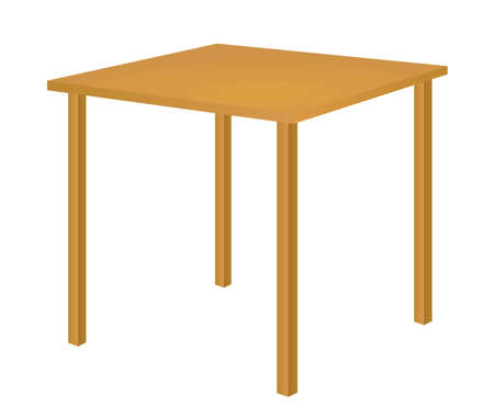 Brown classic home table. vector illustration